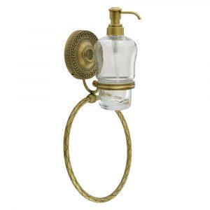 Дозатор настенный с кольцом, стекло