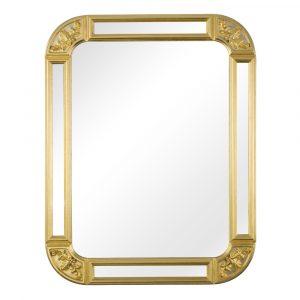 Зеркало прямоугольное с зеркальными вставками в раме