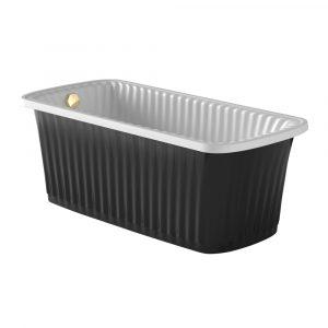 Olivia Panello. Black bathtub