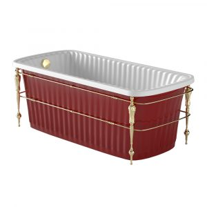 Olivia Console. Red bathtub