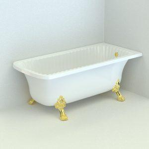 Olivia Angolare. Bathtub, legs «Leone» (Standard)